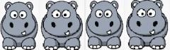 4 hippos